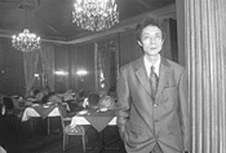Former waiter Kevin Chen now presides over Dong Ting's cavernous dining room.
