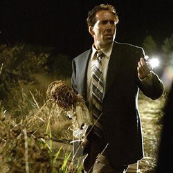 Nic Cage's disoriented cop-hero roams around, uncomprehending.
