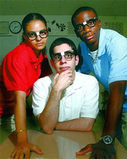 Mackenzi Green, Nader Zamani and Benedict Ifedi are students at DeBakey High School.