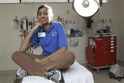 Aspiring premed student Priya Gandhi spent several hours each week in a hospital emergency room as part of a class offered at Clements High.