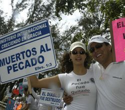 Last year more than 80 De Jesús followers showed up at a Protestant festival in Miami...