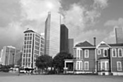 The Cohn House once was surrounded by similar homes in Houston's first upscale neighborhood, Quality Hill.