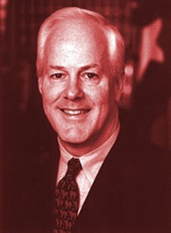 "Attorney General John Cornyn, author of ""a new enforcement policy"" for the Open Beaches Act."