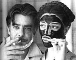 Giancarlo Giannini and Angela Molina practice competing oral hygiene habits in Good News. See Friday.