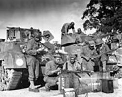 "Soldiers in the segregated 761st Tank Battalion  prepare to go to war in ""Unlikely Liberators."" See  Sunday."