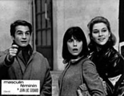 Parisian youth circa 1966 in Masculin, féminin:  Très cool. See Sunday.