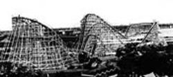The Texas Cyclone, shown here shortly after it was  built in 1976, was modeled on the Coney Island  original.