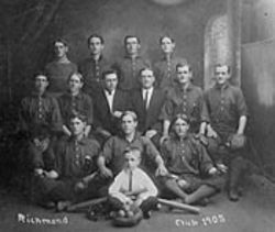 The Richmond Baseball Club, 1905