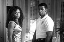 Denzel Washington may be 16 years older than  Sanaa Lahan, but in Out of Time, they're high  school sweethearts.