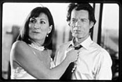 Mick Jagger (shown with Anjelica Huston) proves he has irresistible talent.