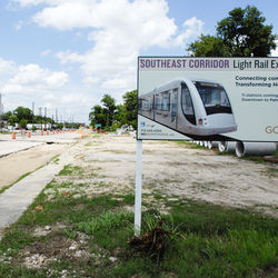 Light rail construction is slowly moving across the city's east side.