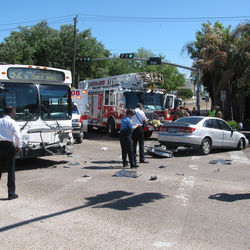 Crashes involving Metro buses are common.