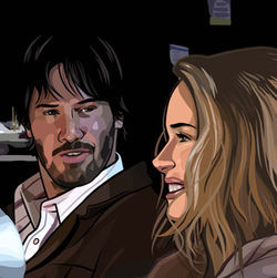 Keanu Reeves and Winona Ryder star underneath a thick coat of digital paint.