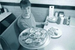 Not everything is fried: Manager Dorothy Wells displays the Seafood Shack&#039;s oysters on the half shell.