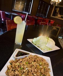 "The bar: lettuce wraps and a ""Miso Hornitos"" margarita."