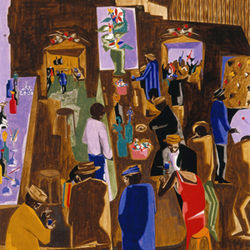 Jacob Lawrence&#039;s The Brown Angel is a masterpiece.