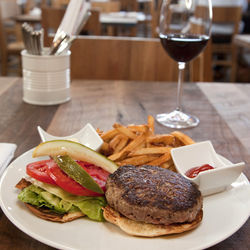 The chef's signature Juicy Lucy burger is back.