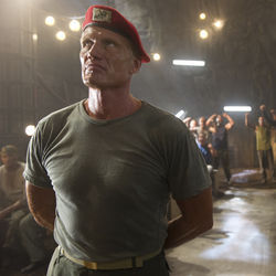 Dolph Lundgren wears a beret and gives a lot of Hitler-like speeches.