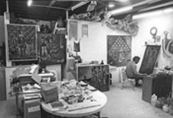 Laboring in his studio, Biggers produced works only now being heralded by major galleries.