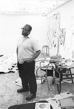 Hancock, in his cluttered but creative studio, twice earned Whitney Biennial honors.