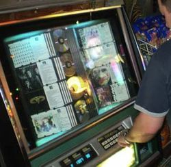 Jimmie's handpicked jukebox, a rarity in the Internet age.