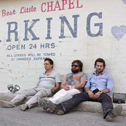 The Hangover (with Ed Helms, Zach Galifianakis and Bradley Cooper) is almost as funny as Old School.