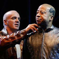It's too bad James Black (Iago, left, with David Rainey as Othello) doesn't have a more worthy opponent.