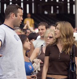 Whenever Vince Vaughn (shown with Jennifer Aniston) is on-screen, the movie is worth your time. When he's not, it ain't.