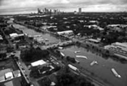 Houston's freeways supply hours of boating fun when  conditions are right.