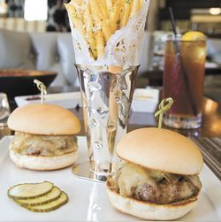 The Angus sliders will make your tablemates jealous.