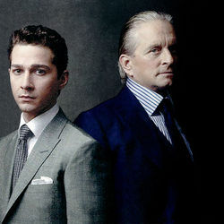 Shia LaBeouf and Michael Douglas star in this &quot;stocks and bonds&quot; story.