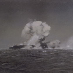 Painted from a photograph: Explosion at Sea.
