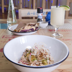 It's easier to get a table for tacos and ceviche at lunch than at dinner.