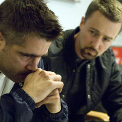Colin Farrell and Edward Norton are costars in an incoherent film.