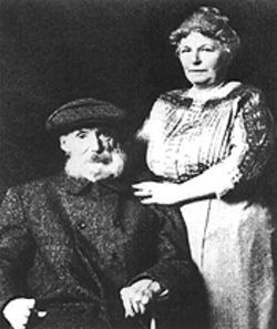 The man behind the legacy: Pierre-Auguste Renoir and wife Aline.