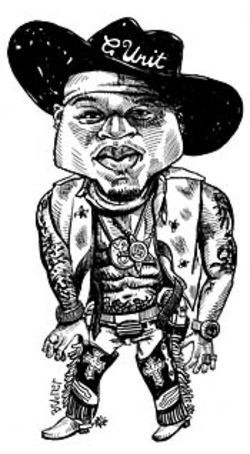 50 Cent: This buckaroo's got more beefs than Omaha  Steaks.