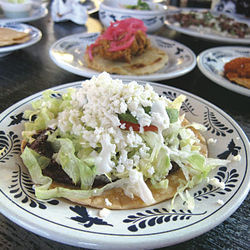 The crisp, refreshing avocado tostada from La Gloria.