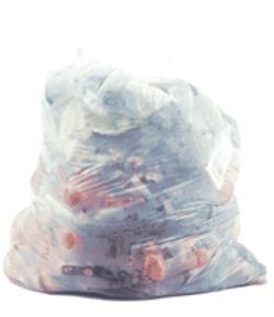 You are what you eat: The Vegan trash bag looks awfully healthy until you notice the smokes.