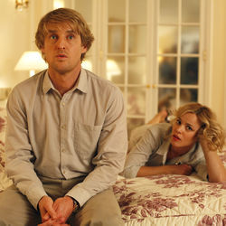 The writer and the rich fiancée: Owen Wilson and Rachel McAdams.