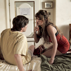 Left to Right: Alessandro Tiberi as Antonio and Penélope Cruz as Anna in To Rome With Love