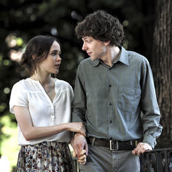Left to Right: Ellen Page as Monica and Jesse Eisenberg as Jack in To Rome With Love