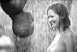 Spidey life lesson no. 1: The superhero (Tobey Maguire) always gets the girl (Kirsten Dunst).