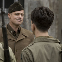 Brad Pitt stars in Quentin Tarantino's smashingly entertaining World War II romp Inglorious Basterds.