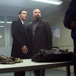 The role of Charlie Wax was a shoo-in for John Travolta (right, with Jonathan Rhys Meyers).