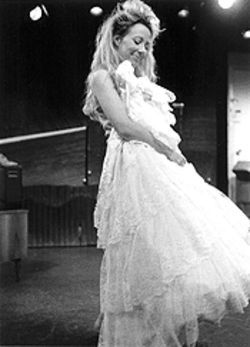 Anne Quackenbush drew good reviews as Hannah in the Stages production.