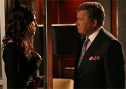 Remember the name: Boston Legal&#039;s Denny Crane (William Shatner, with Lake Bell).